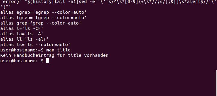 Bild zeigt eine Unix-Shell unter Linux