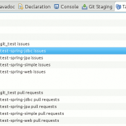 "GitHub Task Repository mit Eclipse Mylyn: Das Ergebnis in der View ""Task Repositories"""