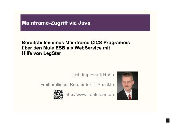 Vorschaubild der Präsentation Mainframe-Zugriff via Java