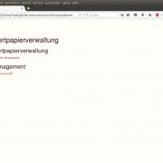 Prototyp: Die Startseite der Wertpapierverwaltung